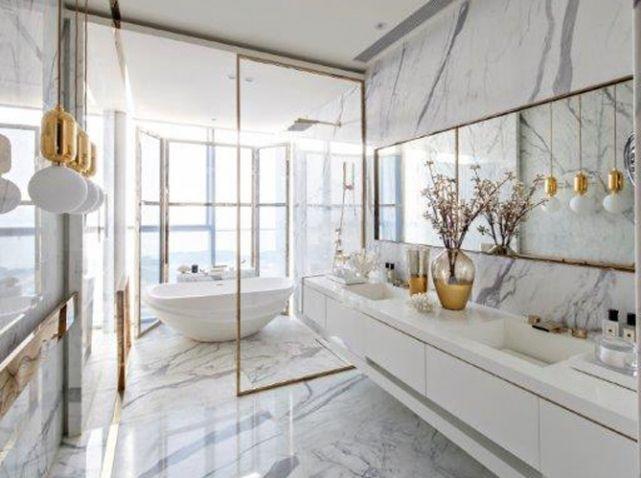 Les 25 meilleures idées de la catégorie Salle de bains en marbre ...