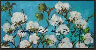 Cotton Painting / Aqua