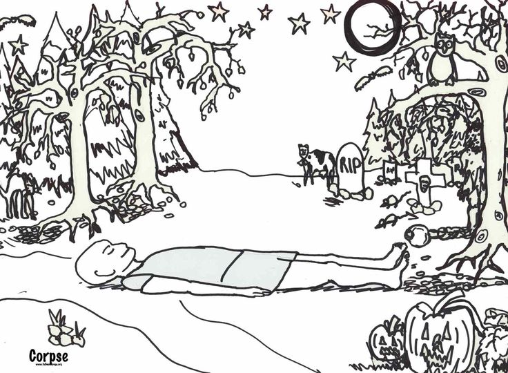 yoga coloring pages halloween free - photo#5