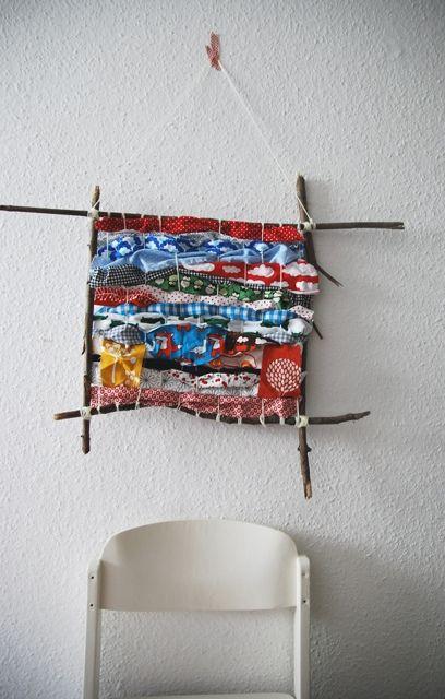 herzekleid: Gastbeitrag von Flora Fadenspiel: Wandschmuck aus Stoffresten