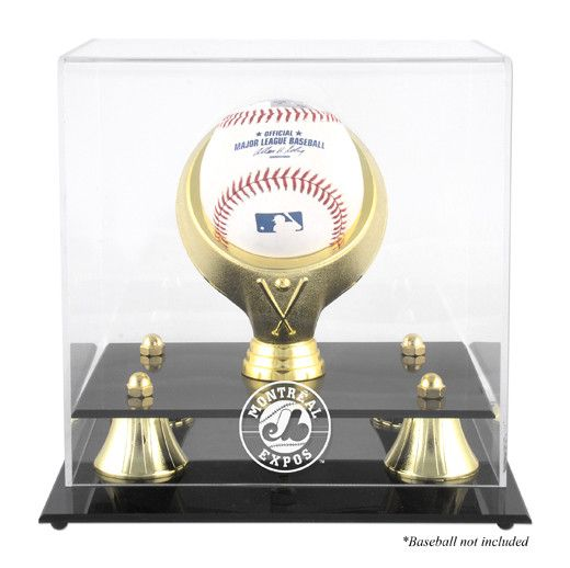 Montreal Expos Golden Classic Single Baseball Logo Display Case