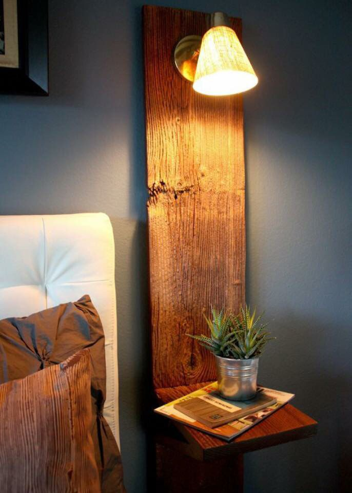 Minimalist bedside table. Beautiful warm timber.