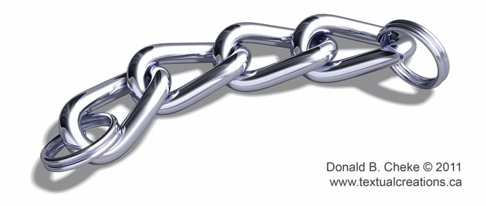 Chain links 3D model / rendering created by Don Cheke using TurboCAD Pro Platinum v18 | #CAD #Software #3D #Rendering