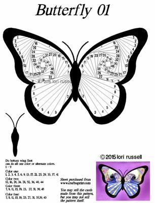 Butterfly01 on Craftsuprint designed by Lori Russell - Butterfly with outline - Now available for download!