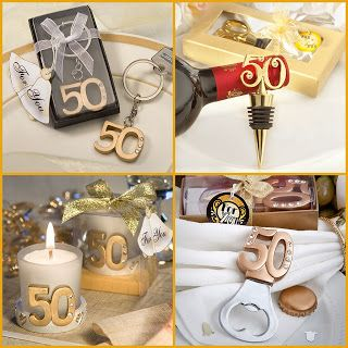 HotRef Blog Gold 50th Anniversary Party Favors For Wedding Birthday Class Reunion