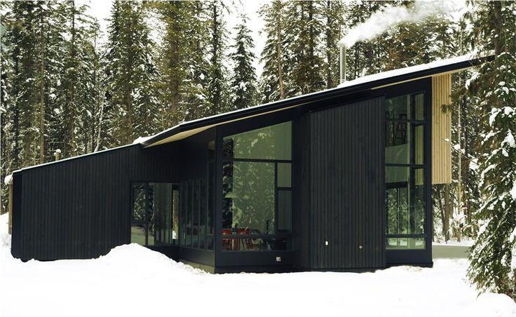House Mono Pitched Roof Big Windows Frank Lloyd
