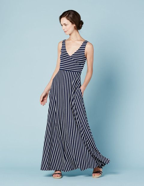 Full Skirt Maxi Dress - I love everything about this dress and I just bought a bright green purse which is the brightest thing I own.  I think it might look good to spice this up.