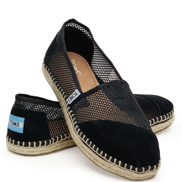 læder leather black sort mesh sommersko damesko ladies dame TOMS tom's sko shoes canvas slipon slip-on sandal buy one give one charity velgørenhed gummi classics klassisk