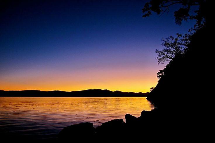 September sunset on Galiano Island