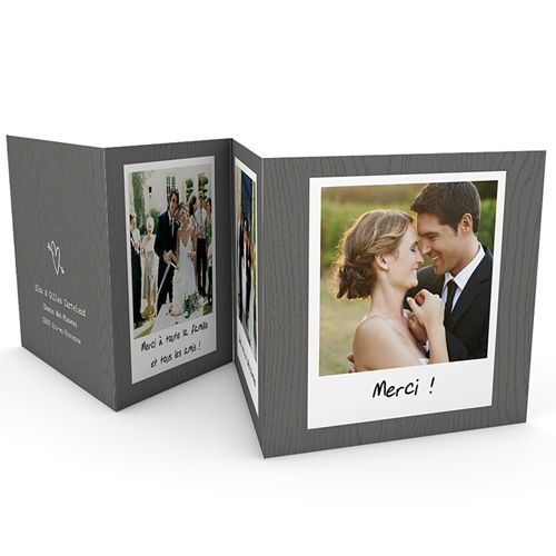 carte remerciements de Mariage tendance #mariage #remercier #cartes