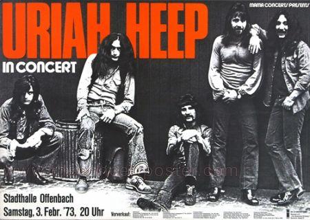Image result for uriah heep vintage poster 1973