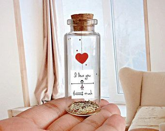 Sweet anniversary gift ideas for boyfriend and girlfriend. Bottle mail Romantic Anniversary surprise gift for her / him. Perfect love gift.