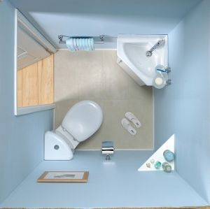 VitrA Layton Close Coupled Pan, Corner Cistern & Toilet Seat... via.. #BOARD http://www.pinterest.com/queenjean207/tiny-house-bathrooms/
