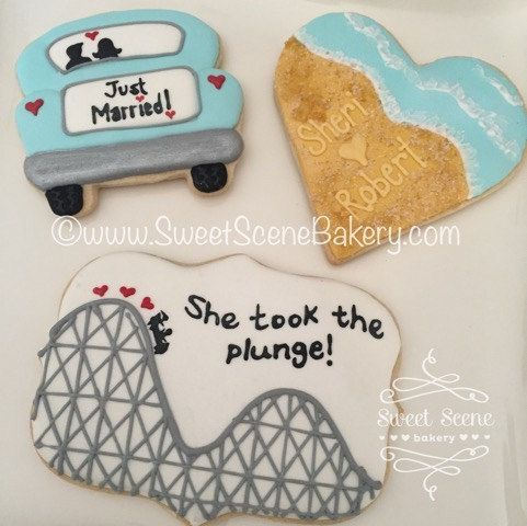 Wedding Cakes, Wedding Monograms, Roller Coaster Cookies.