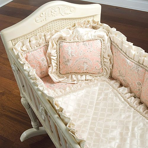 Versailles Cradle in Antique White from PoshTots