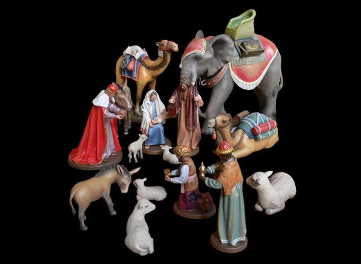 Figury do szopki betlejemskiej z litego drewna