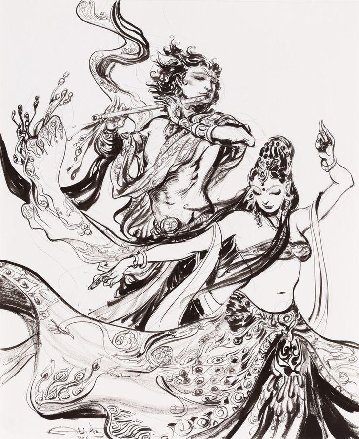 Krishna Radha – Abhishek Singh Art