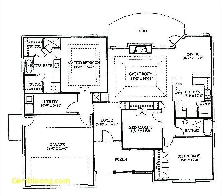 Simple 3 Bedroom Floor Plans Houses