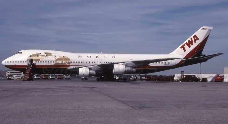 https://flic.kr/p/238LXEx | N93108JFKRAMP | TWA B747-131 N93108 Seen At JFK May 1997