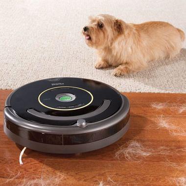 Lifetime warranty! The Pet Bowl Circumventing Robotic Vacuum - Hammacher Schlemmer