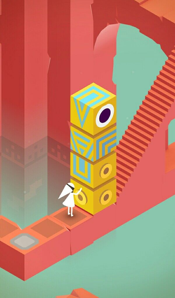 Monument valley is such a beautiful game. Play as Princess Ida along with her friend Totem as you uncover a magical puzzle world full of optical illusions!