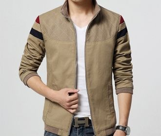 Mens Jacket with Strips