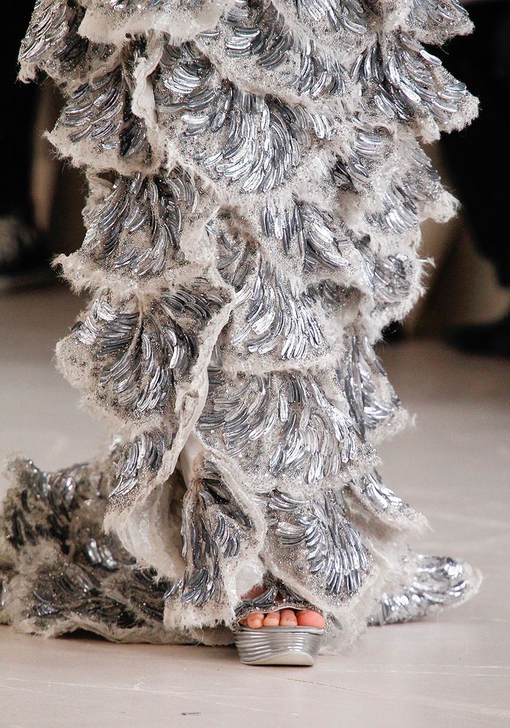 Alexander McQueen, Spring 2012Couture Details, Alexander Mcqueen, Silver Christmas, Fashion Details, Alexandermcqueen, Spring 2012, Christmas Trees, Ruffles, Haute Couture