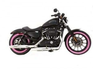 pink harley davidson!  This is totally the kind of bike it would take for me to get my license.