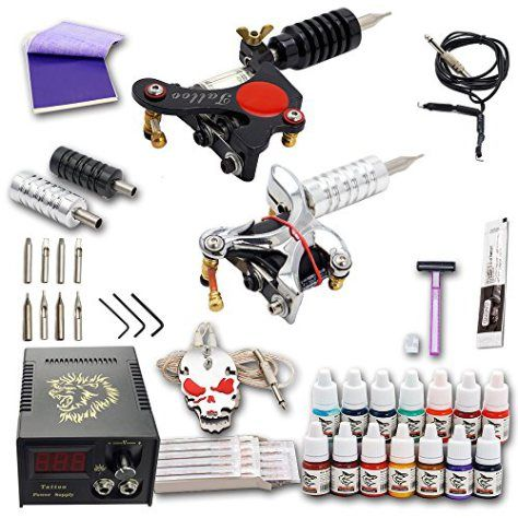Shark® Professional Tattoo Kit LCD Power Supply 2 Machines Guns 10 Coils Complete Color Inks 50 Needles Grip Tube - http://www.yourdreamtattoos.com/shark-professional-tattoo-kit-lcd-power-supply-2-machines-guns-10-coils-complete-color-inks-50-needles-grip-tube/?utm_source=PN&utm_medium=http%3A%2F%2Fwww.pinterest.com%2Fpin%2F368450813235896433&utm_campaign=SNAP%2Bfrom%2BYour+Dream+Tattoo