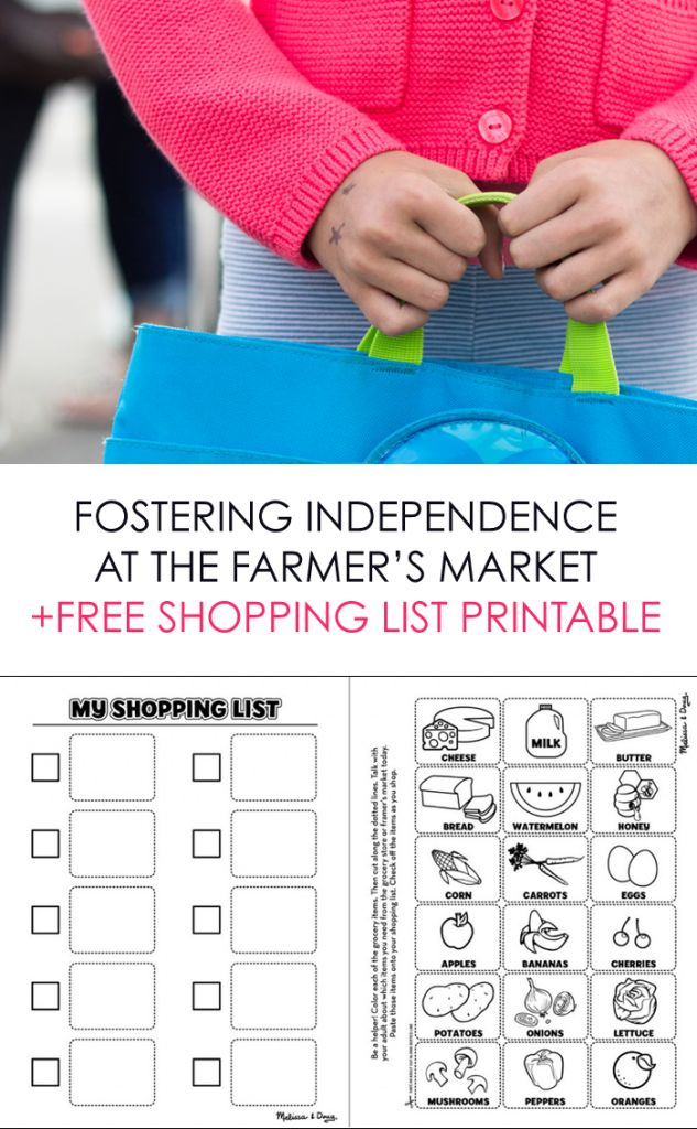 Fostering Shopping Independence *love this free kids list printable. too cute.