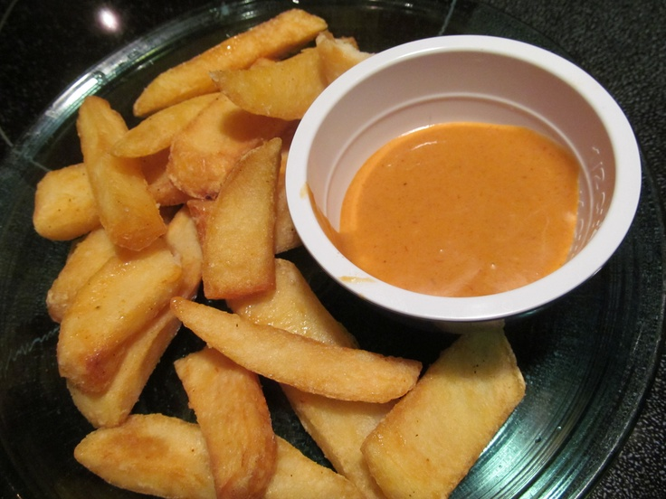 """""""Campfire Sauce""""-copycat from Red Robin Burgers. Mix 1 cup Mayonnaise, 1 cup Hickory Honey BBQ sauce, and 1 tsp. dried Chipotle powder. YUM! A wonderful dip for fries, onion rings, fried fish... or slater on burgers, grilled chicken sandwiches, baked potatoes..SO GOOD!"""