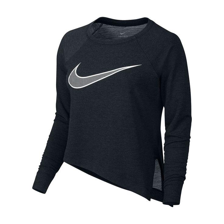 Women's Nike Training Cropped Top, Size: Medium, Grey (Charcoal)