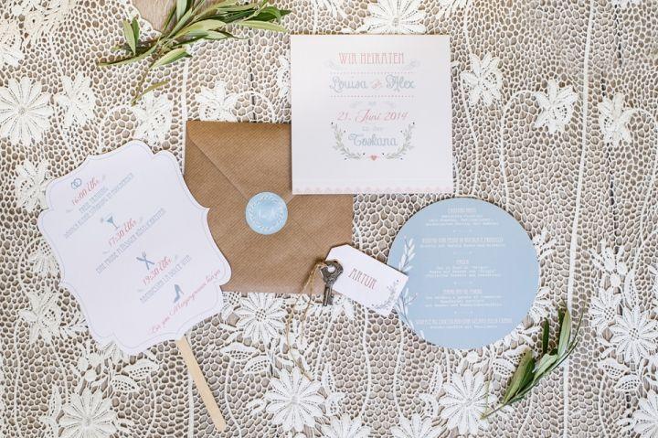 Vintage Hochzeitseinladung