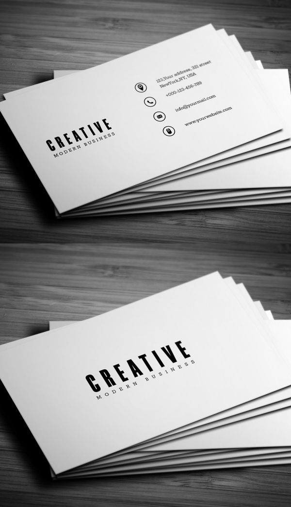 Minimal Business Card #businesscards #businesscardesign #printready #psdtemplates