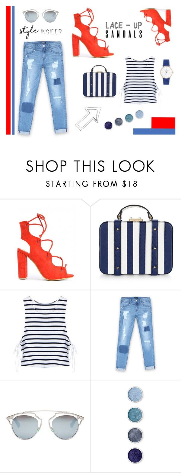 """""""Orange & Blue"""" by soivana ❤ liked on Polyvore featuring Accessorize, Bebe, Christian Dior, Terre Mère, contestentry, laceupsandals and PVStyleInsiderContest"""