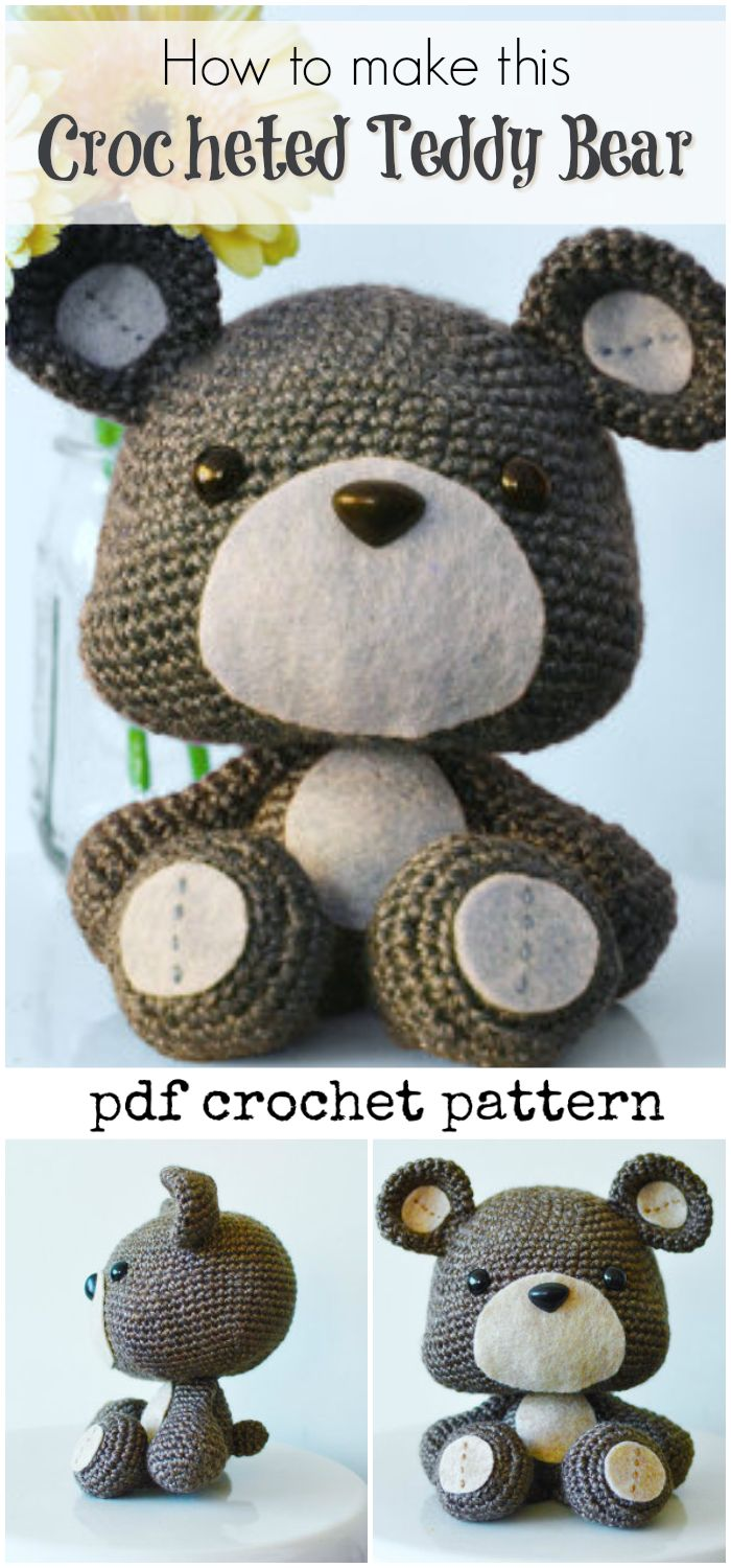 501 best needles hooks yarn images on pinterest crochet instructions on how to make this cute crocheted teddy bear downloadable pdf crochet pattern for bankloansurffo Gallery