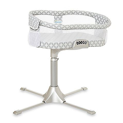 The HALO Bassinest Swivel Sleeper is the only bassinet that rotates 360º. Now your little one can sleep as close as you like, while safely in his own sleep area. Plus, it's unique design makes it easy to soothe and tend to your baby whenever you need to.