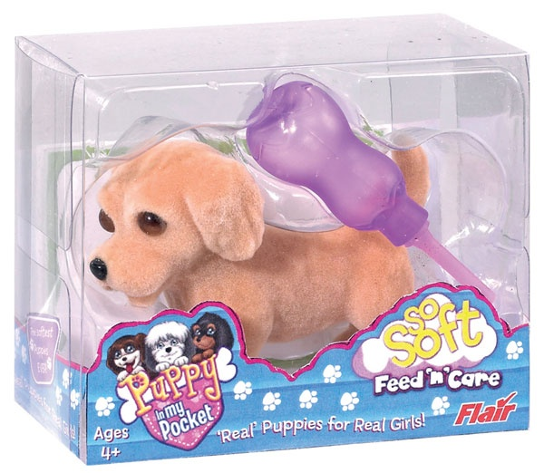 """Puppy In My Pocket """"So Soft Feed 'n Care"""" (single figure/assorted) (U.K. and Worldwide)"""