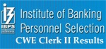 IBPS CWE Clerk II Online exam result 2012 has been declared. The announcement of the results has ended the wait of the candidates who had appeared for the online exam held by IBPS on 15th, 16th , 22nd , 23rd , 29th and 30th December 2012.