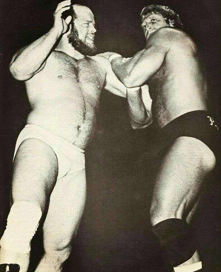 Buzz Sawyer VS Paul Orndorff.  Back when wrestling was real and not fake.