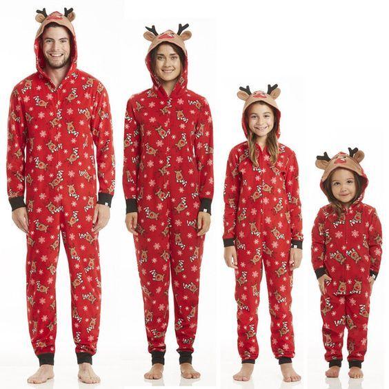 Christmas Family Pajamas Set.Details About Moose Fairy Christmas Family Pajamas Set Adult