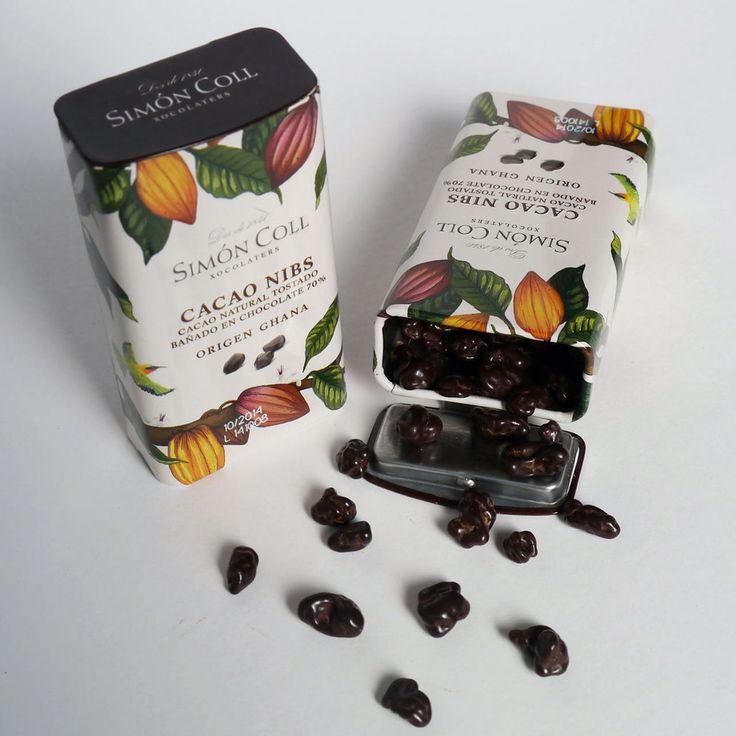 Simon Coll 35g. Pepite de cacao naturala, invelite in ciocolata 70%