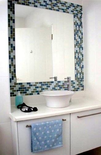 Bathroom Tile Around Mirror Design Pictures Remodel