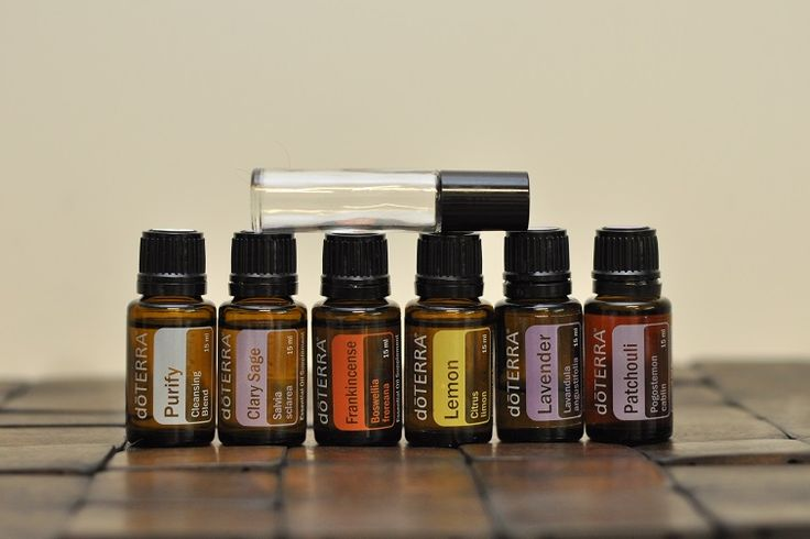 Essential Oil Deodorant ~ Purify (doTerra), Clary Sage, Frankincense, Lemon, Lavender & Patchouli. Tip: Lemongrass would be good too. (they didn't dilute with carrier oil but I DEFINITELY would!)