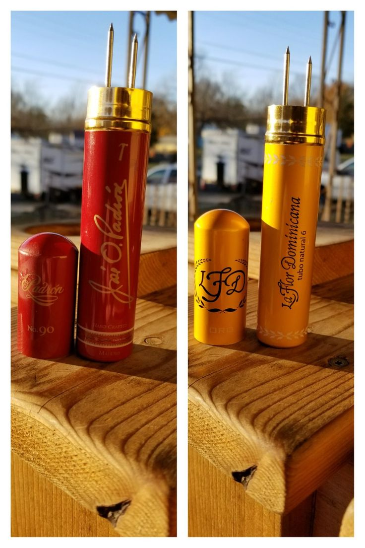 Recycled cigar tubes into nubbers.