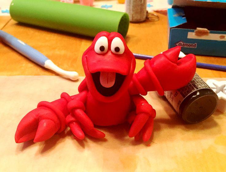 Fondant Sebastian the Crab from The Little Mermaid