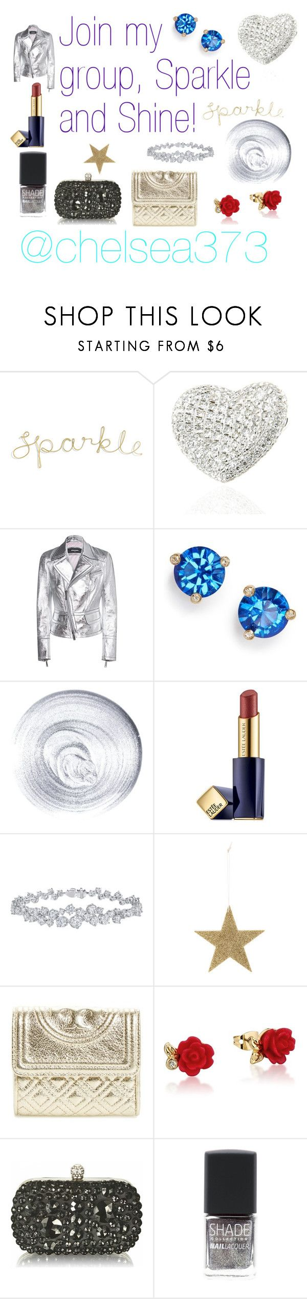 """""""I would like to invite you to join my group: Sparkle and Shine. To join the group, click """"Accept group invitation"""" here: http://www.polyvore.com/cgi/group.show?id=210760."""" by chelsea373 on Polyvore featuring Dsquared2, Kate Spade, Guerlain, Estée Lauder, Harry Winston, Bloomingville, Tory Burch, Disney and SHADE Collection"""