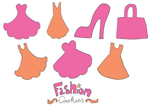 Sjablonen voor de modekoekjes. Download op www.zapp.nl/jill