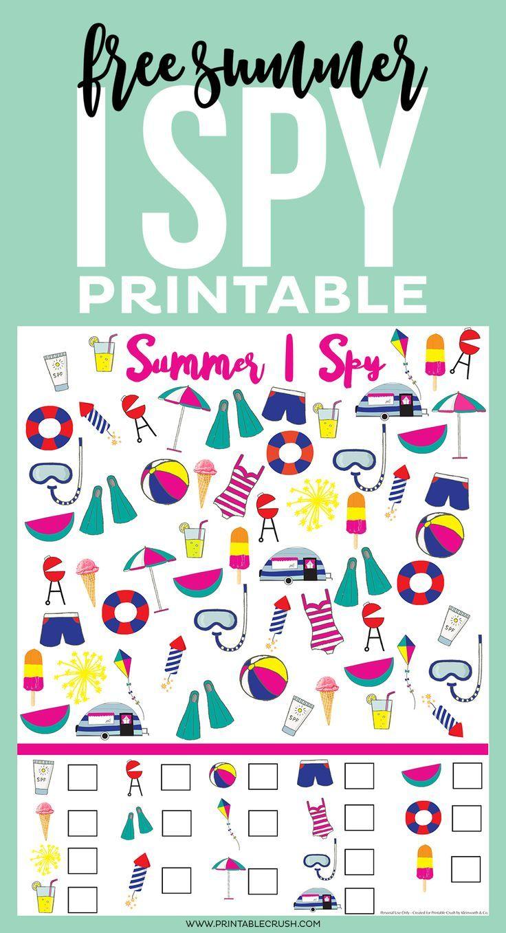 Free Summer I Spy Printable Spy Games For Kids Business For Kids Printable Games For Kids [ 1357 x 736 Pixel ]
