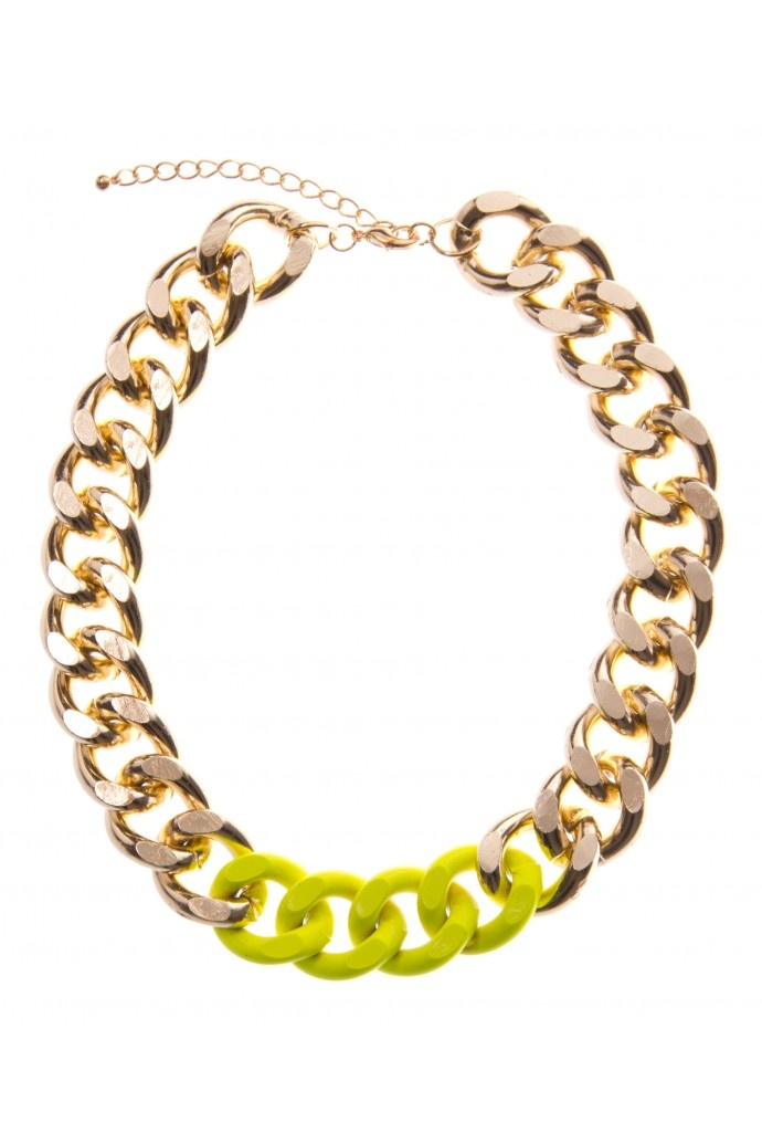 Neon thick chain, perfect to pair with any plain tee or blouse!